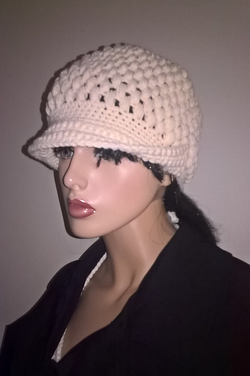 Puff brimmed hat