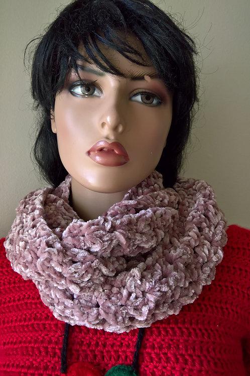 Velvet infinity scarf
