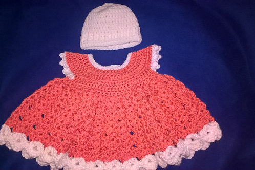 Newborn hat and dress