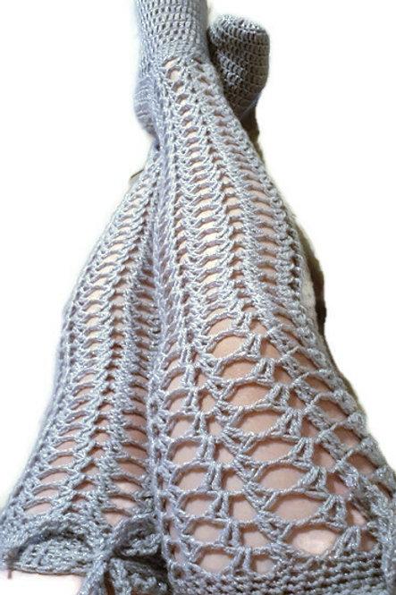 Shell thigh high stockings