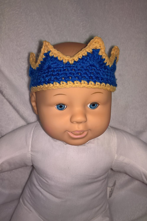 Baby Crown, Crown beanie and booties set