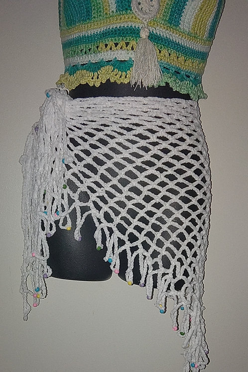 Swimsuit coverup with beads