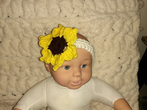 Baby sunflower headband