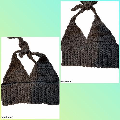 Crochet baby halter crop top