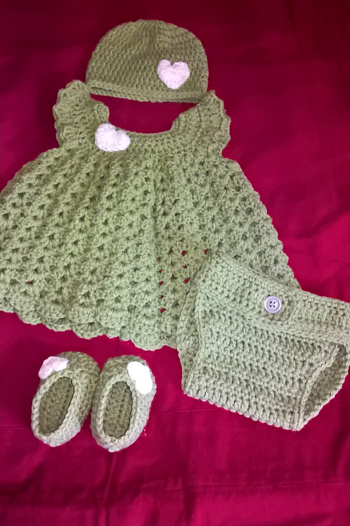 Newborn Pinafore Outfit