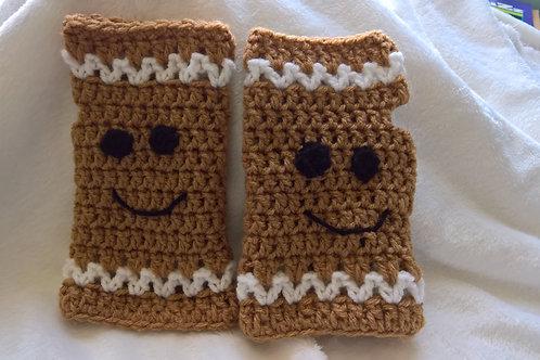 Ginger bread fingerless/texting gloves