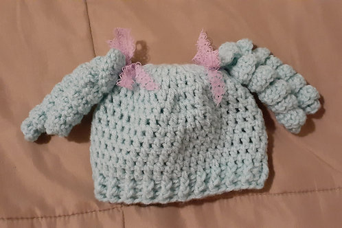 Curly tail baby beanie