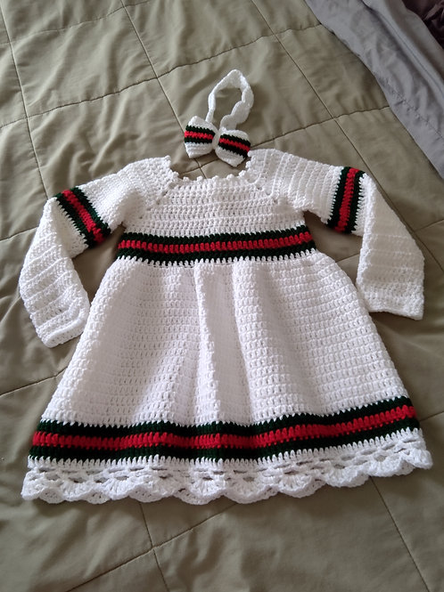Gucci inspired toddler dress & headband
