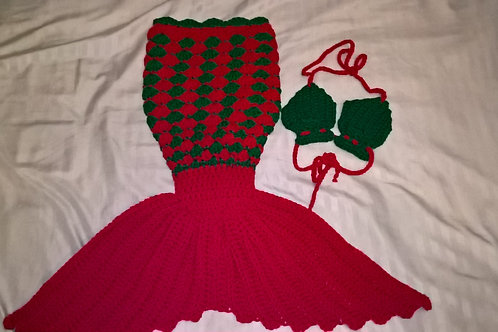 Newborn Little Mermaid Tail Outfit