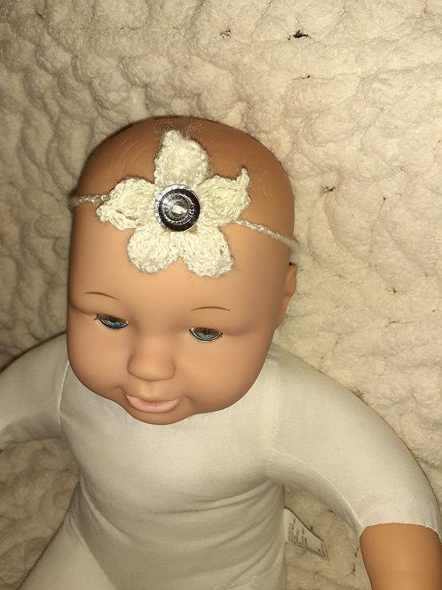 Baby flower adjustable headband
