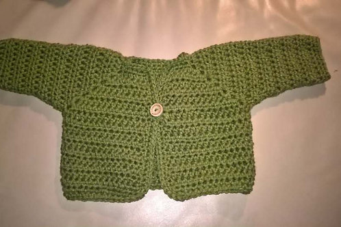 Newborn cardigan and butterfly hat
