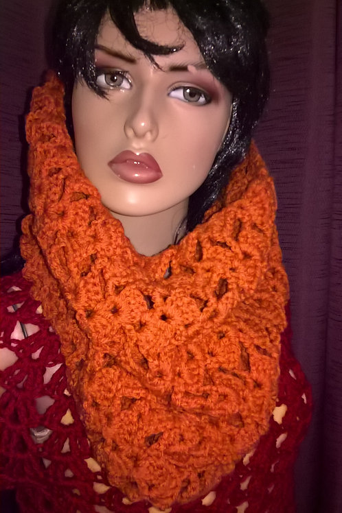 Romantic lacy cowl