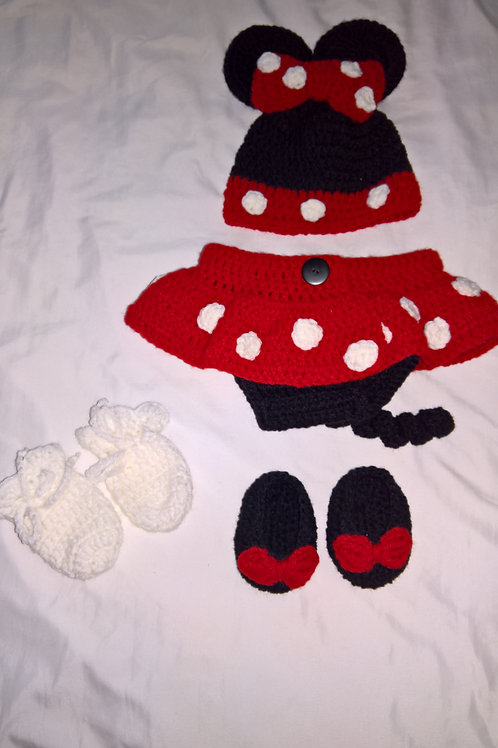 Baby Minnie Mouse photo props