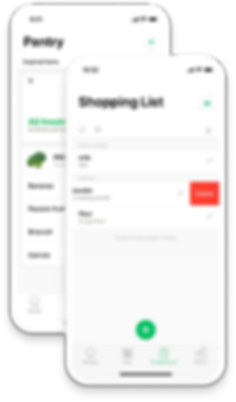 Pantry and Shopping Screenshots