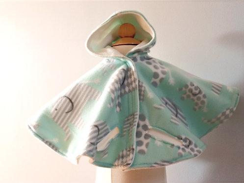Baby Elephants 2-Layer Fleece Car Seat Poncho
