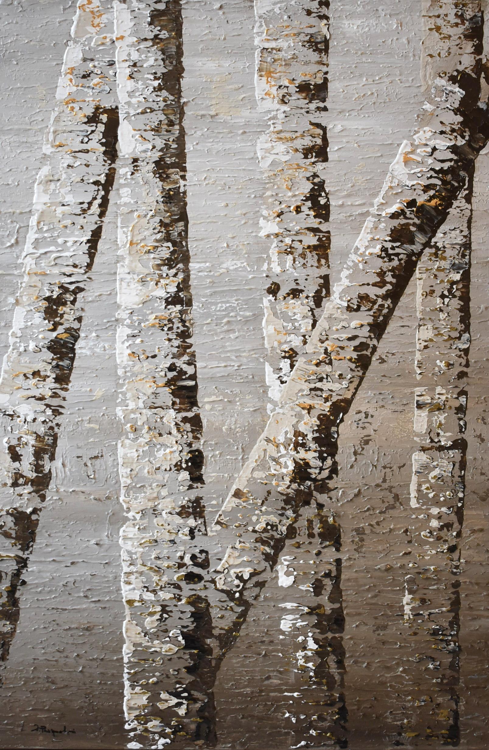 Birch Tree Reflection #6