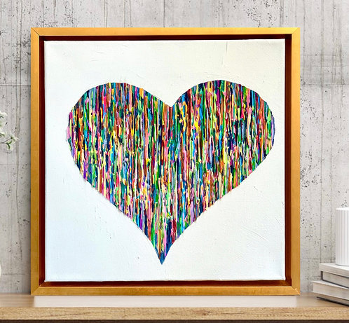 Bright Love - Colorful - Golden Frame