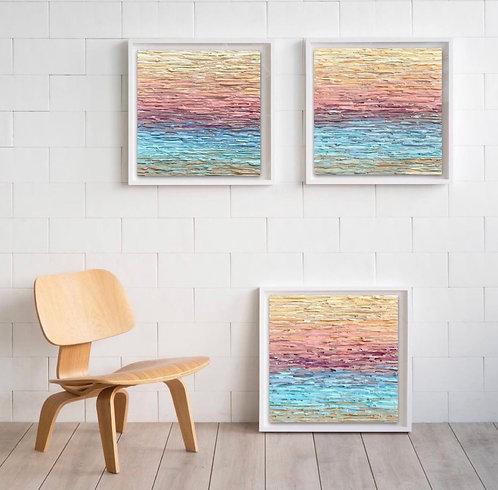 Twilight Romance IV - Composition of 3 original paintings
