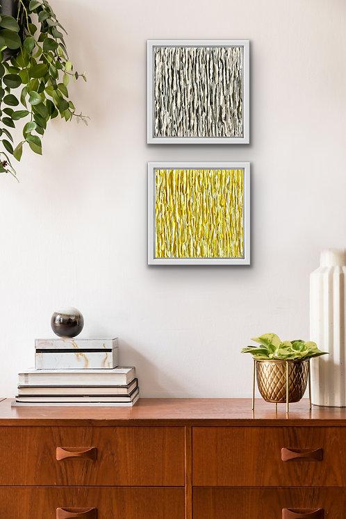 Emergence composition 2  - Illuminating Yellow & Ultimate Grey
