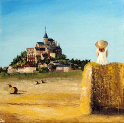 Lady with a view - Mont Saint Michel