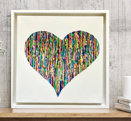 Bright Love II - Colorful - White Frame