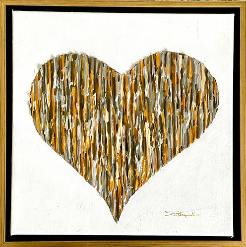 Bright Love - Silver & Gold - Gold Frame