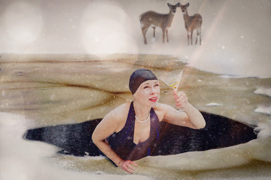 Lulu taking a dip