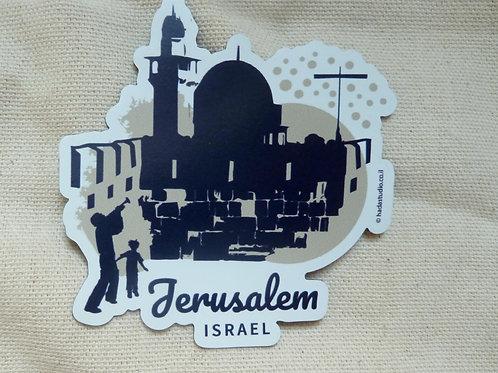 Magnet Jerusalem | Beige