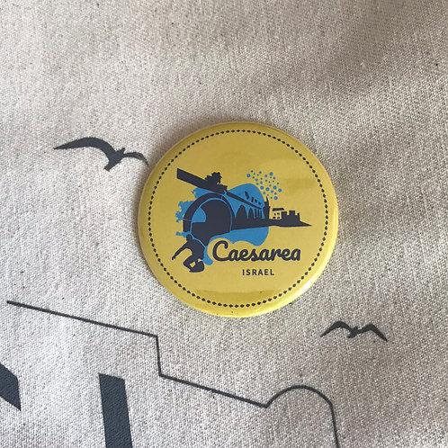 Badge & magnet Caesarea | Yellow