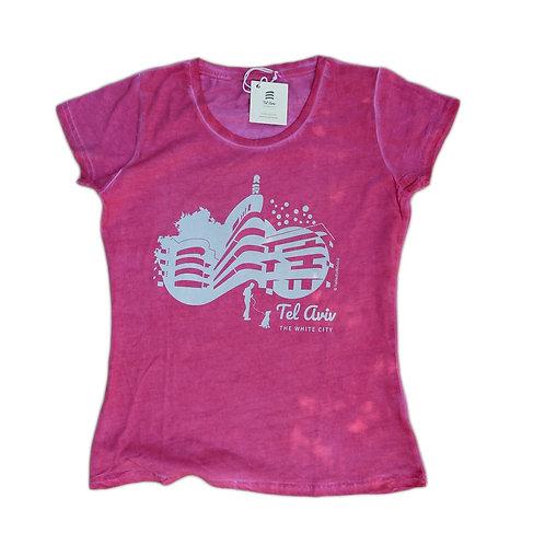 T-shirt Women Tel-Aviv Bauhaus | Pink | Classic | New collection