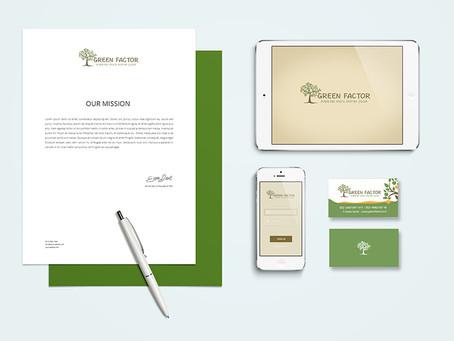 Green factor    logo branding