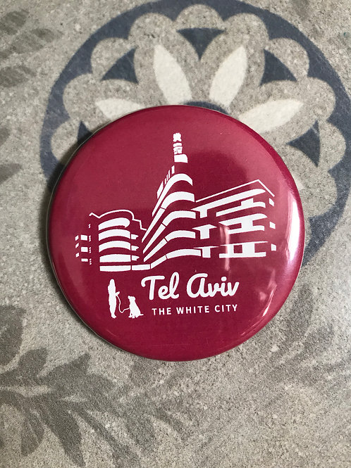 Badge & magnet Tel Aviv the white city | old red
