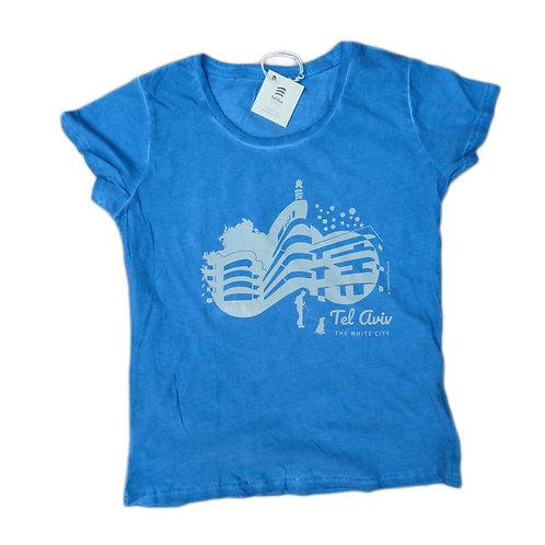 T-shirt Women Tel-Aviv Bauhaus | Blue lagoon | Classic