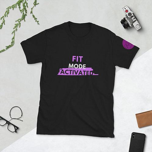 'Fit Mode Activated' Short-Sleeve Unisex T-Shirt (Grape)