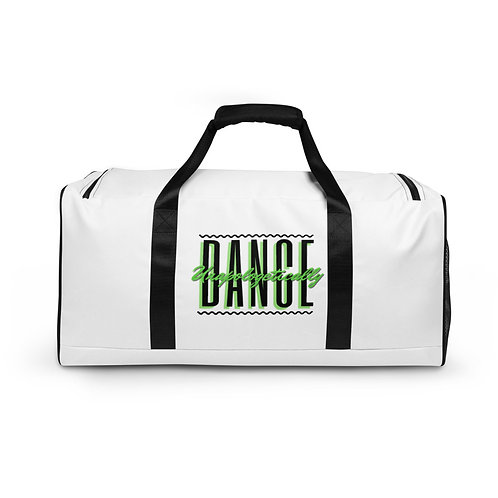 'Dance Unapologetically' White Duffle bag