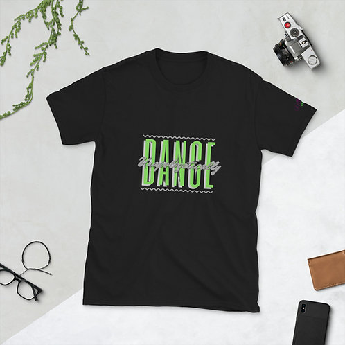 'Dance Unapologetically' Short-Sleeve Unisex T-Shirt (Lime & Gray)