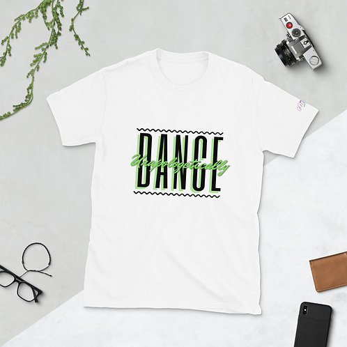 'Dance Unapologetically' Short-Sleeve Unisex T-Shirt (Black & Lime)