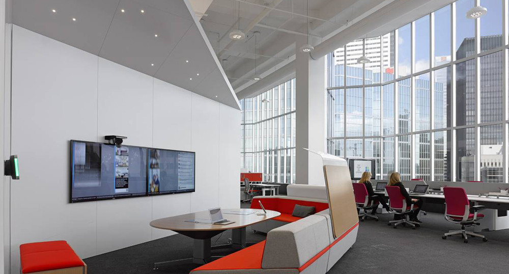 Steelcase cleaned up their office pretty well after the party.