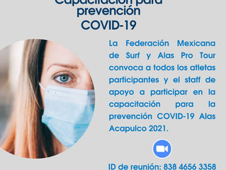 Capacitación para prevención COVID-19