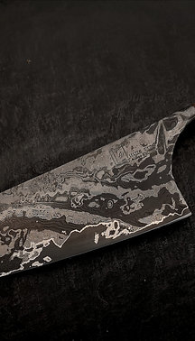 Damascus 70 Layer Chef Zebrano