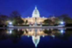 美国 国会大厦 夜景