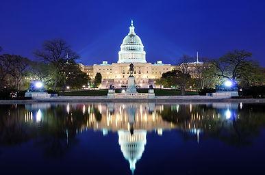 Beautiful night US Capitol Building