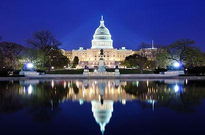 美國 國會大廈 夜景