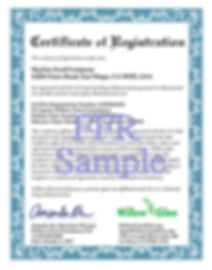 FDA FFCertificate of registration 注册证书  註冊證書