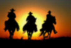牛仔  日落 黃昏
