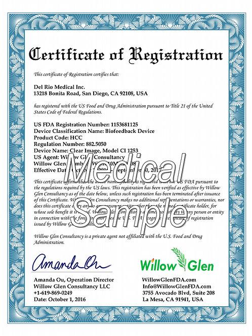 Medical Device Establishment Registration and US Agent / Correspondent Service