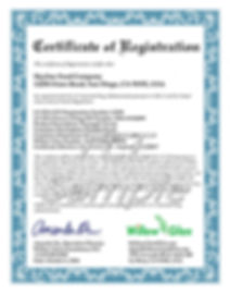 FDA FCE Certificate of registration 注册证书  註冊證書