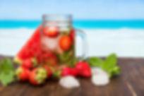 Healthy fruit, strawberry, summer drink
