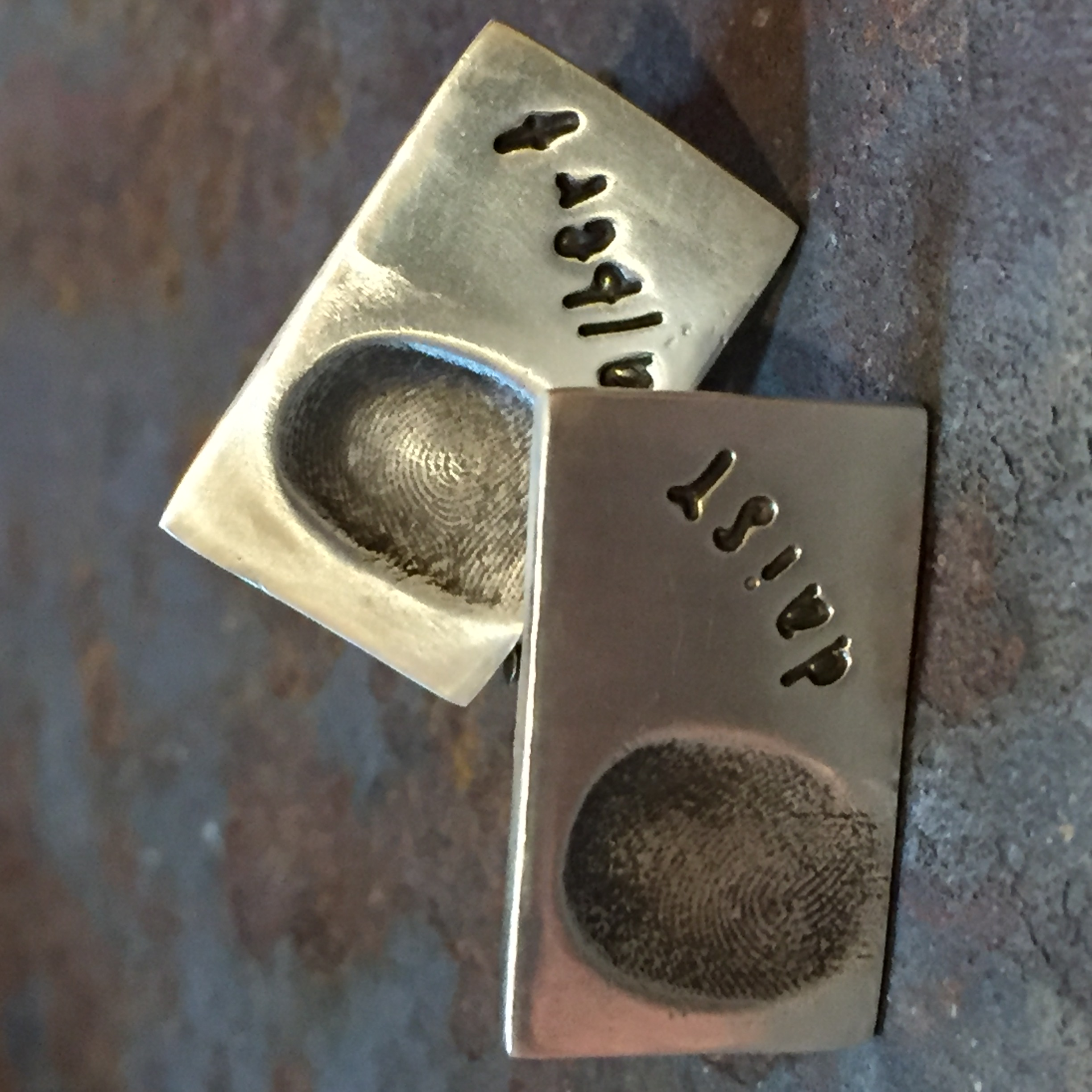 Silver Fingerprints Cufflinks