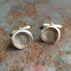 Silver Fingerprint Cufflinks